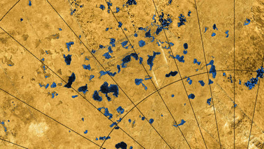 'Lakes' on Saturn's moon Titan