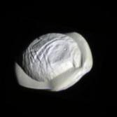 Pan's northern hemisphere imaged by Cassini