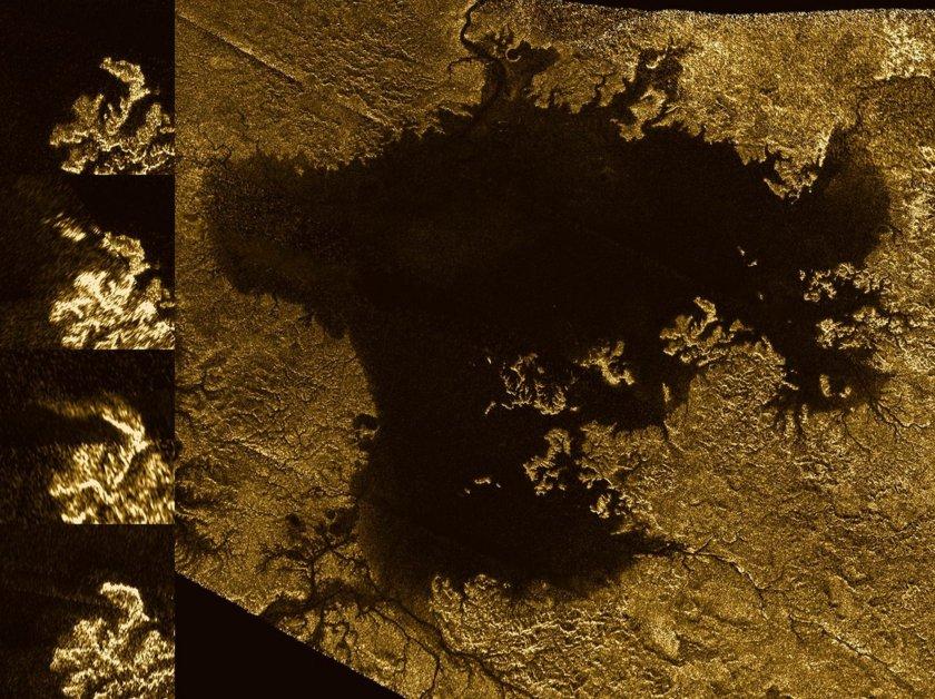Change detection on Titan