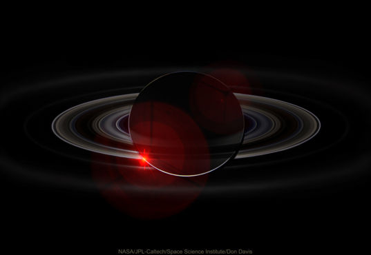 Saturn eclipsing the Sun