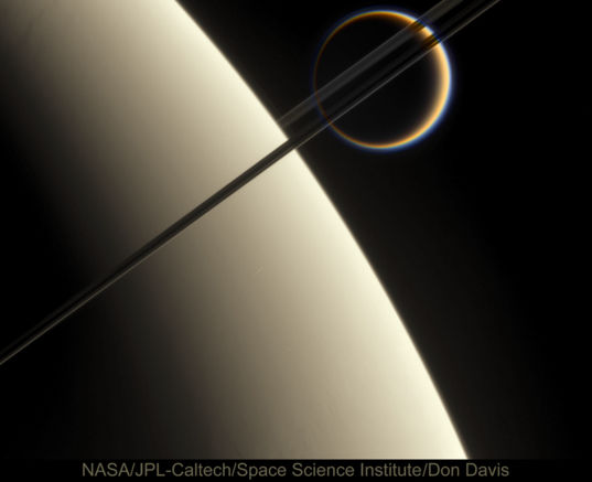 Saturn, Rings, and Titan