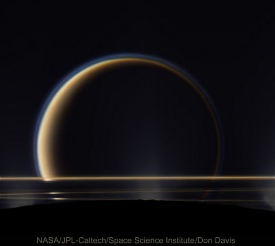 Show above Enceladus