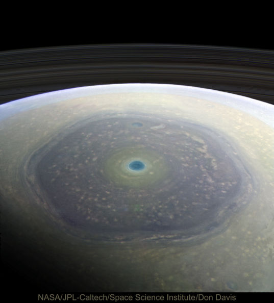 The North polar region of Saturn