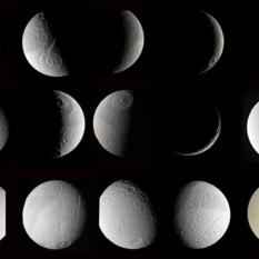 Many Cassini views of Tethys