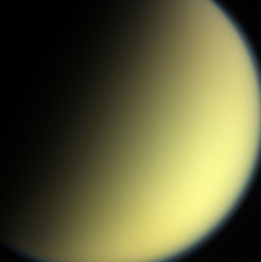 Cassini's final view of Titan