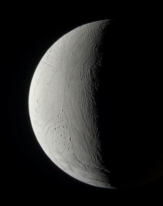 A natural-color portrait of Enceladus