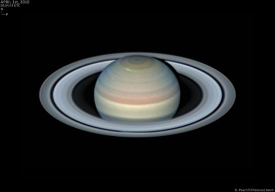 Saturn on April 1, 2018: New storm