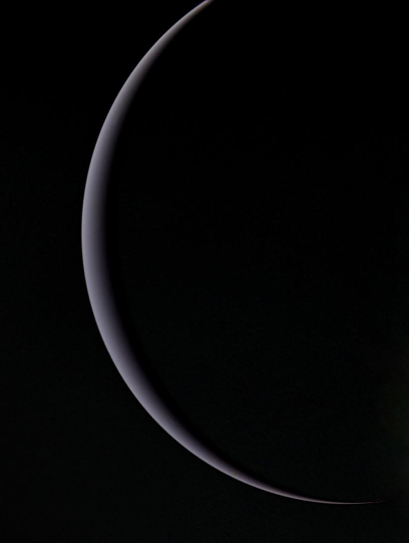Uranus' crescent, January 25, 1986