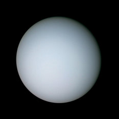 Color global view of Uranus from Voyager 2
