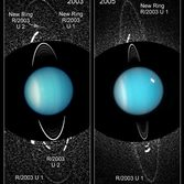 Newly discovered rings and moons of Uranus