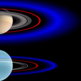 The Saturnian and Uranian ring systems compared
