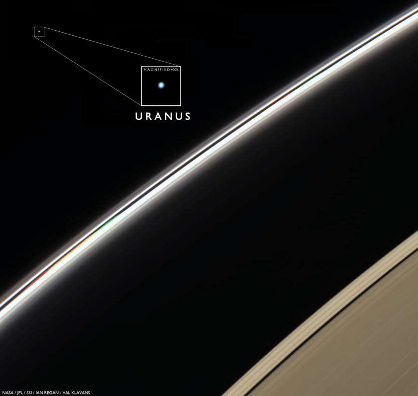 Cassini spies Uranus