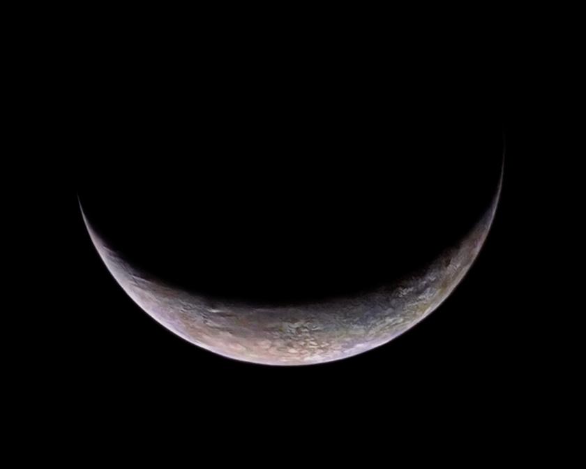 Triton's crescent in color