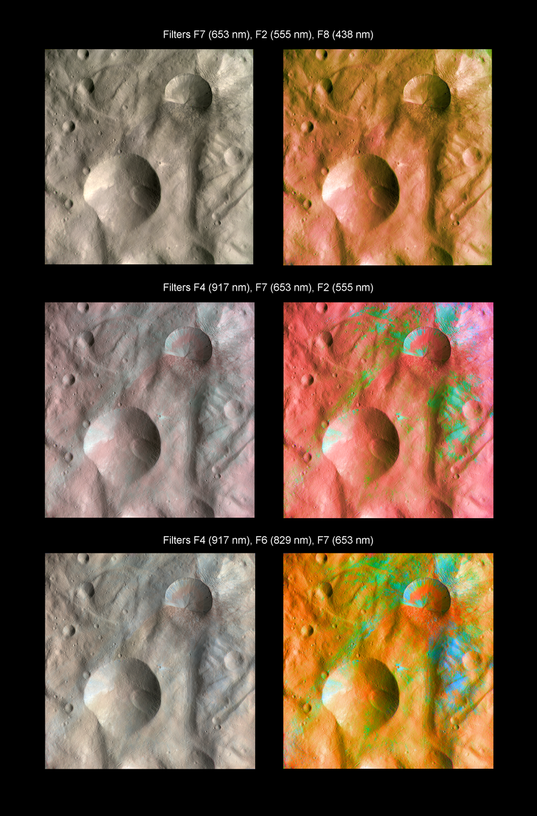 Infrared color imaging of Vesta