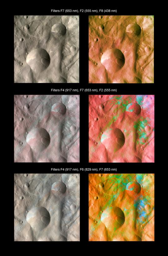 Infrared color imaging of Vesta