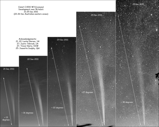 Comet Lovejoy grows and fades