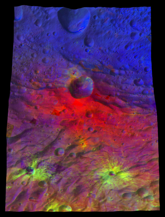 Oppia Crater in false color