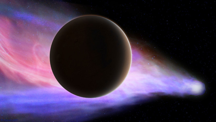 Artist's concept of comet Siding Spring passing Mars