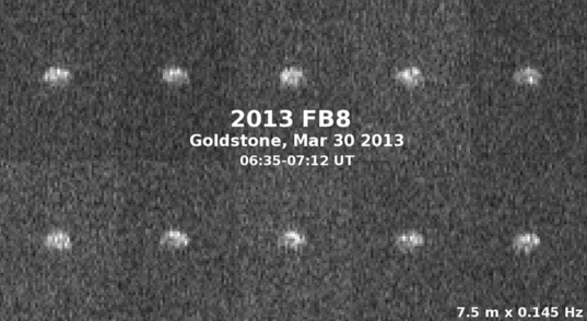 Radar images of asteroid 2013 FB8 from Goldstone, March 30, 2013