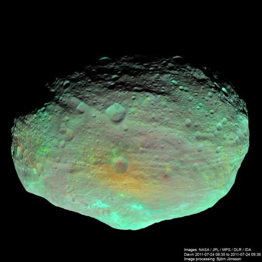 Vesta in enhanced color