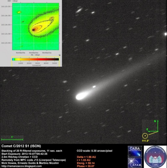 R-filtered view of Comet ISON