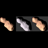 Comparison of Toutatis images and shape model