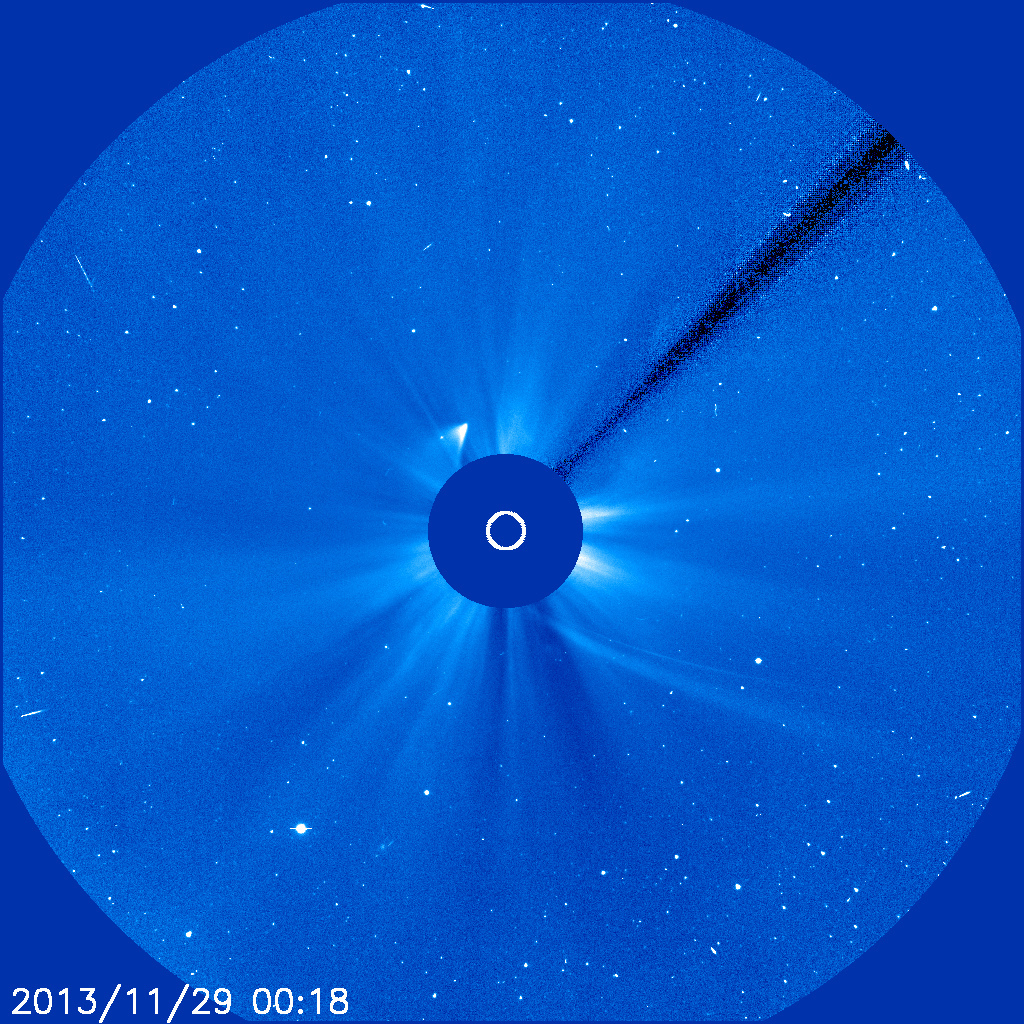 Multiple views of comet ISON from solar-observing spacecraft