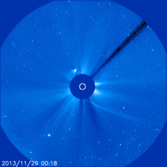 Comet ISON just after perihelion in SOHO LASCO C3