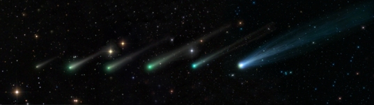 Comet ISON's evolution from September 24 to November 15, 2013