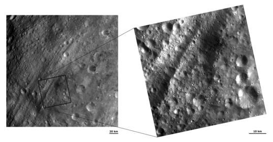 Vesta's troughs at two scales
