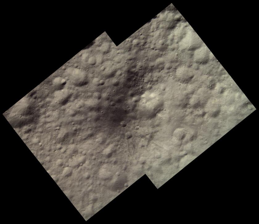 Aricia Tholus, Vesta (HAMO color image)