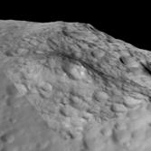 3D view of Aricia Tholus, Vesta