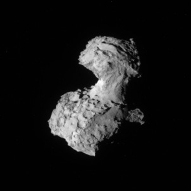 NavCam view of comet Churyumov-Gerasimenko on August 3, 2014