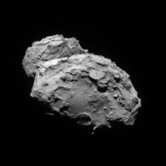 Comet Churyumov-Gerasimenko from Rosetta on August 4, 2014