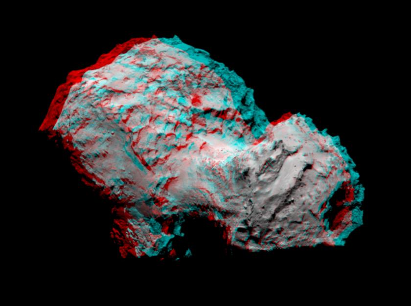 Comet Churyumov-Gerasimenko in 3D