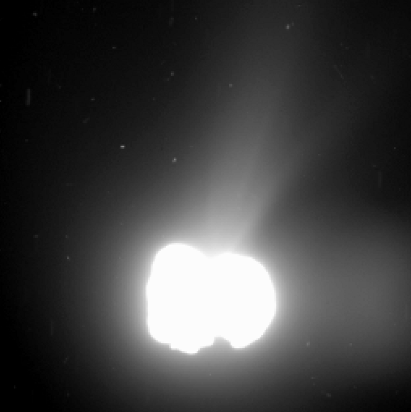 Cometary activity on Churyumov-Gerasimenko, August 2, 2014