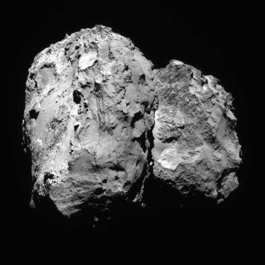 NavCam view of comet 67P, 1st orbit, August 6, 2014