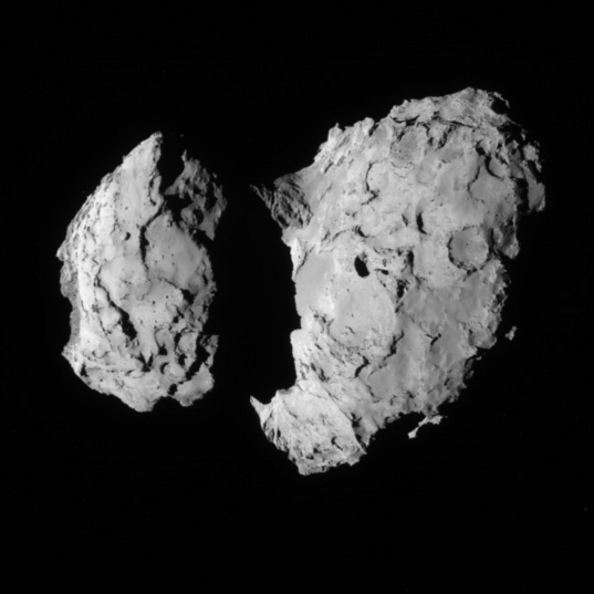 NavCam view of comet 67P, 1st orbit, August 10, 2014