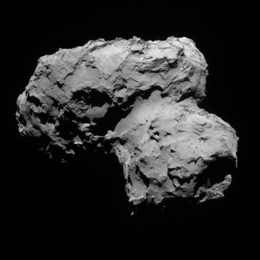 NavCam view of comet 67P, 1st orbit, August 11, 2014