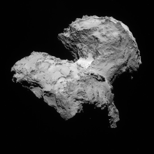 NavCam view of comet 67P, 1st orbit, August 12, 2014
