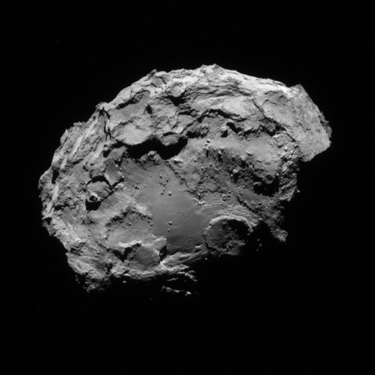 NavCam view of comet 67P, 1st orbit, August 13, 2014