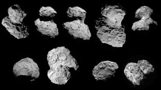 NavCam images of comet Churyumov-Gerasimenko from Rosetta's first orbit