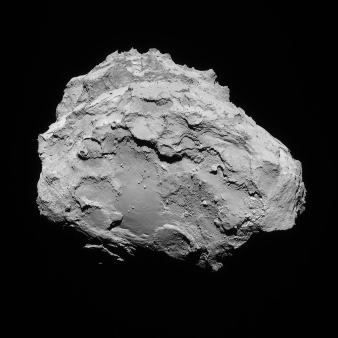 NavCam view of comet 67P, 1st transfer, August 15, 2014