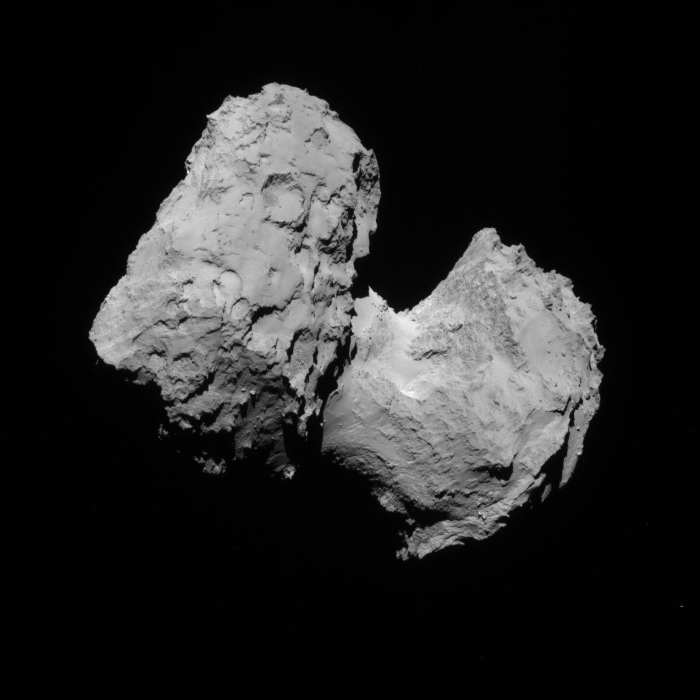 NavCam view of comet 67P, 1st transfer, August 16, 2014