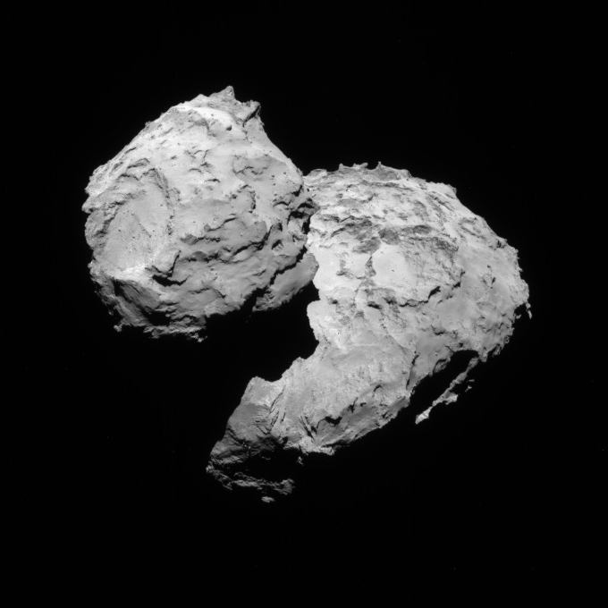 NavCam view of comet 67P, 1st transfer, August 17, 2014