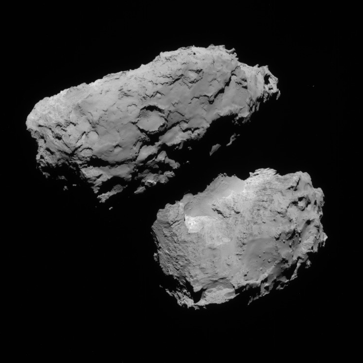 NavCam view of comet 67P, 1st transfer, August 18, 2014