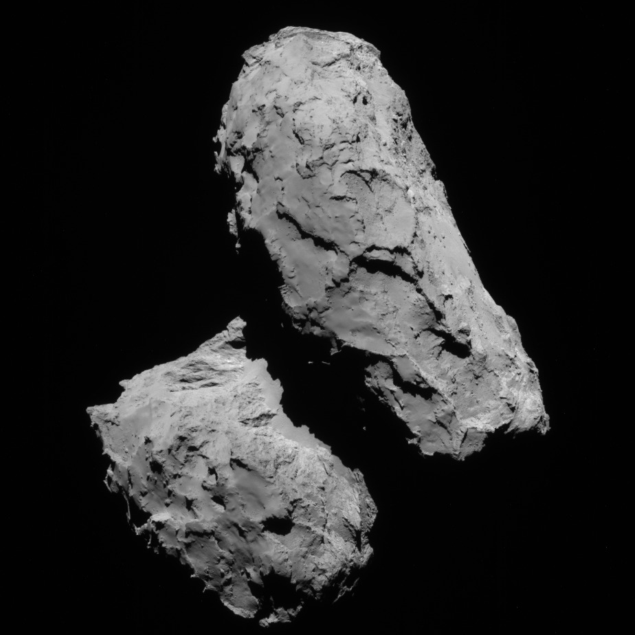 NavCam view of comet 67P, 1st transfer, August 21, 2014