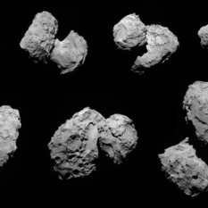 NavCam images of comet Churyumov-Gerasimenko from Rosetta's transfer from 100- to 60-kilometer orbit