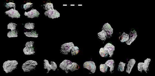 Possible landing sites for Philae on NavCam images of Churyumov-Gerasimenko