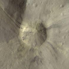 Aelia crater, Vesta (detail)